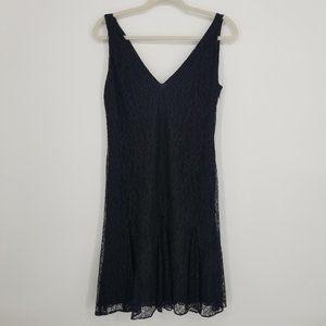 Ralph Lauren Black Lace Sleeveless Dress Sz 6